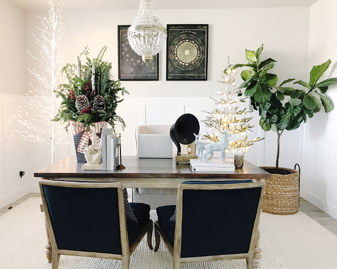 Christmas Home Office Christmas Home Office Christmas Home Office #ChristmasHomeOffice Home Bunch Beautiful Homes of Instagram
