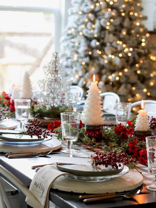 Christmas Tablescape Happy and cheerful Christmas Tablescape Christmas Tablescape