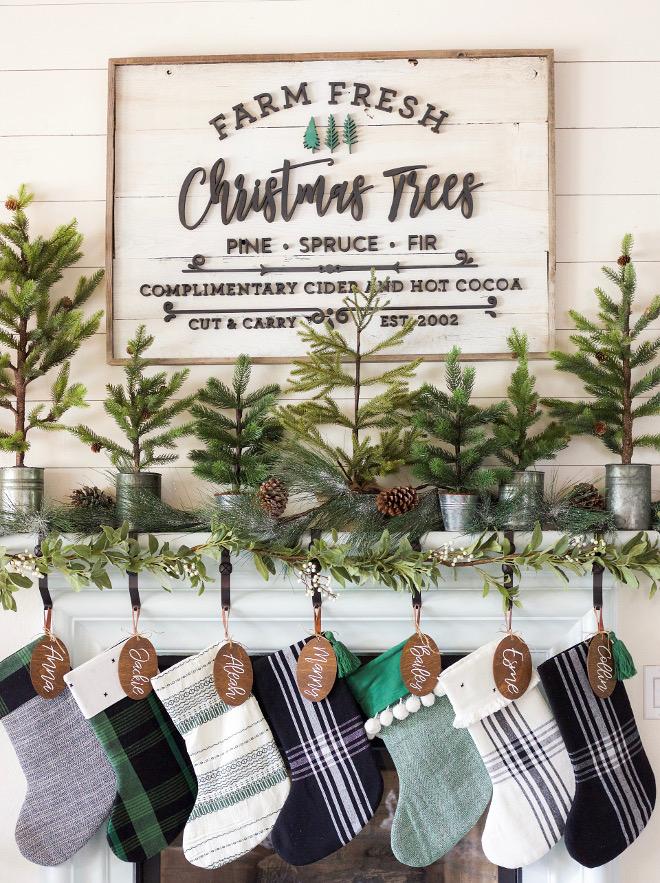 Christmas mantel with small Christmas trees Mantel small Christmas trees Christmas mantel with small Christmas trees Mantel small Christmas trees