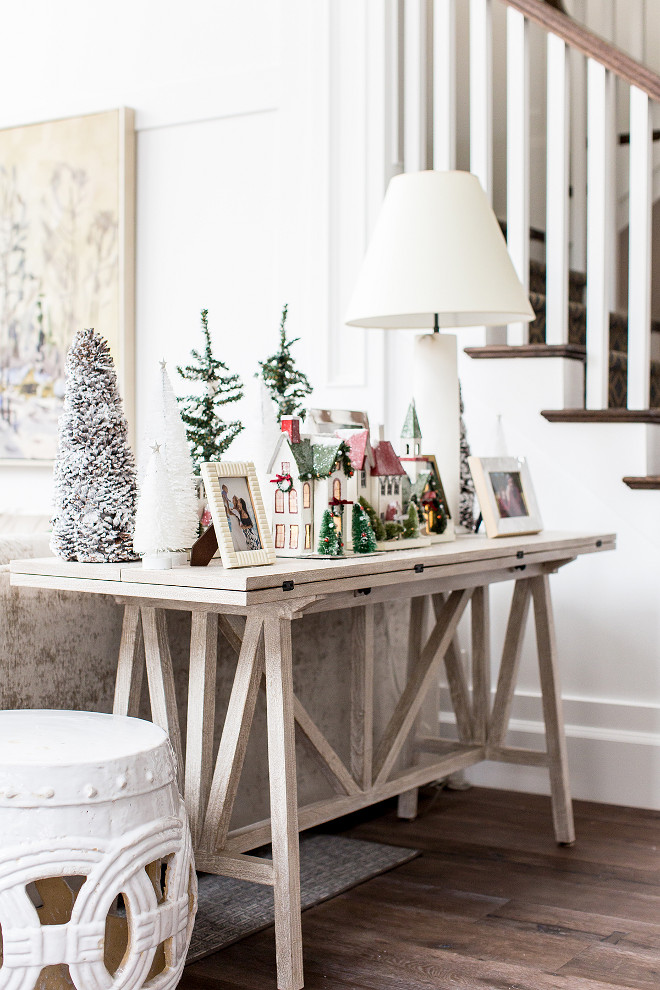 Drop-Leaf Console Table Whitewashed Drop-Leaf Console Table Drop-Leaf Console Table Whitewashed