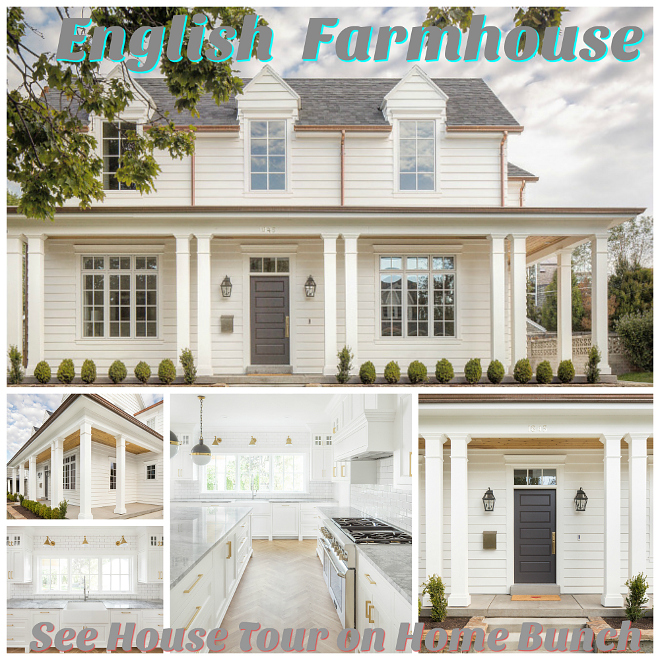 English Farmhouse Home English Farmhouse Home House Tour on Home Bunch Blog #Farmhouse #Home