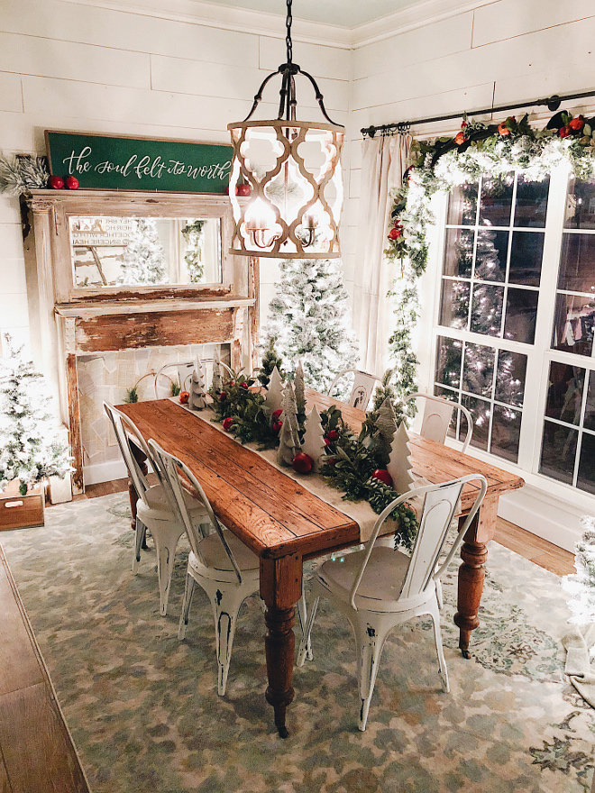 Farmhouse Christmas Dining Room Farmhouse Christmas Dining Room Farmhouse Christmas Dining Room