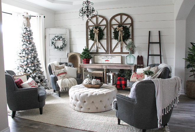 Farmhouse Christmas Farmhouse shiplap decor Farmhouse Christmas