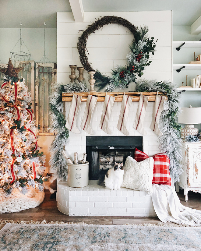 Farmhouse Christmas Stockings Fireplace Decor Farmhouse Christmas Stockings Fireplace Decor Ideas Farmhouse Christmas Stockings Fireplace Decor