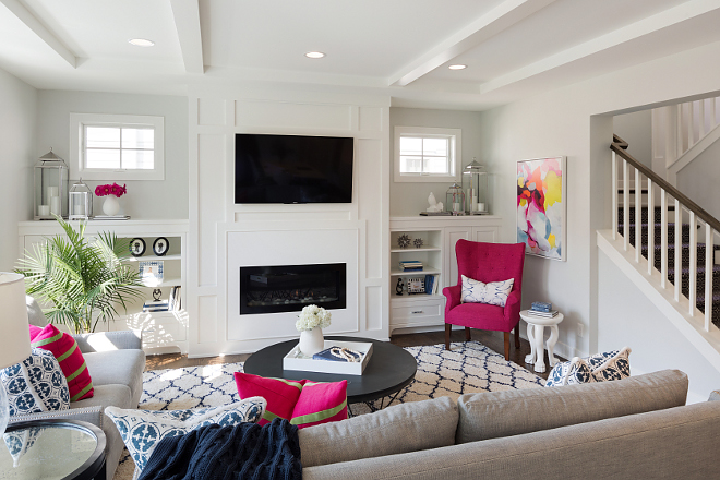 Fresh color palette ideas This living room features a lively and fresh color palette