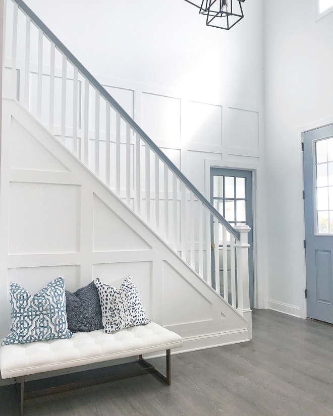 Grid Board and Batten Foyer Grid Board and Batten Best Ideas for Grid Board and Batten paneling #GridBoardandBatten #foyer #GridBoardandBattenpaneling #Grid #BoardandBatten #paneling Home Bunch Beautiful Homes of Instagram