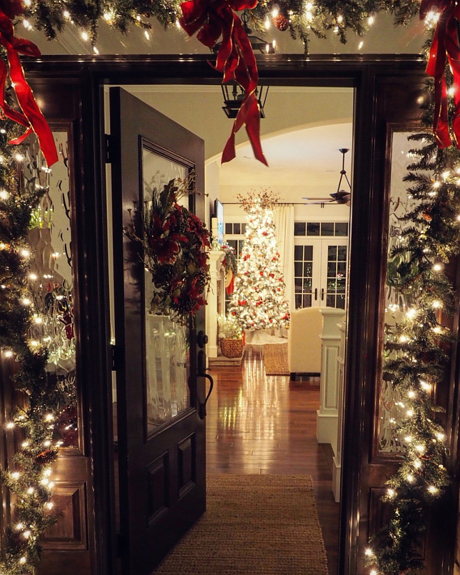 Lit Garland Outdoor Lit Garland Front Door Lit Garland