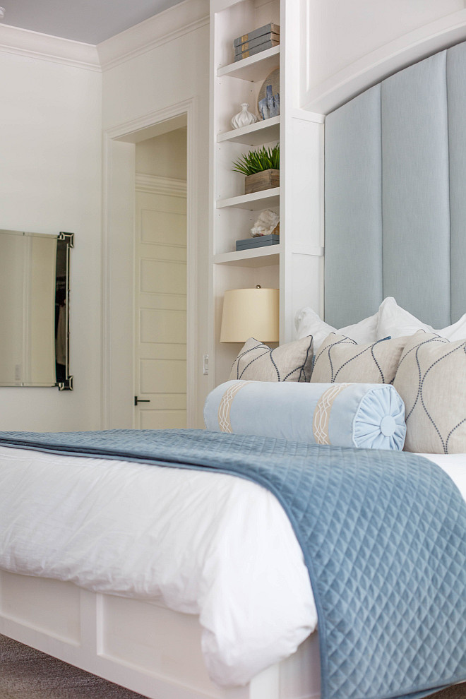 Master bedroom- Bedding- RH-custom pillows and window treatments