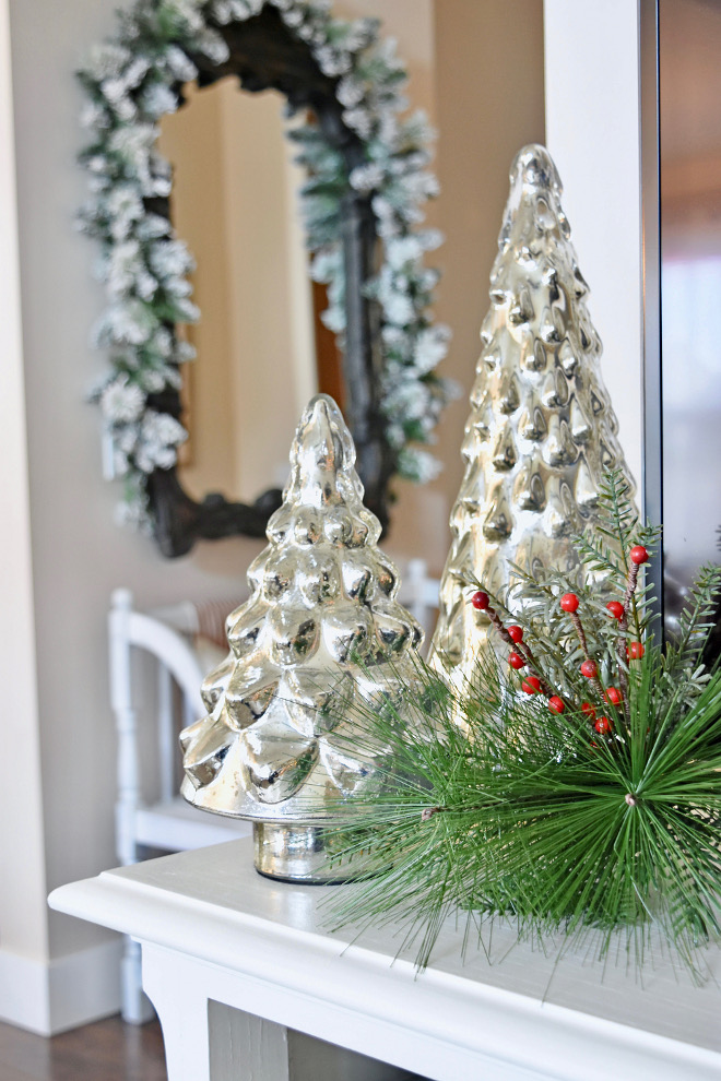 Mercury Glass Christmas Trees Mercury Glass Christmas Trees - Home Bunch's Beautiful Homes of Instagram