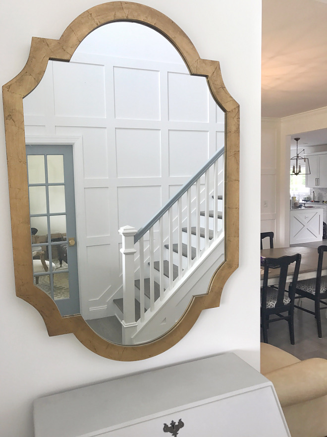 Mirror geometric frame and golden finish Mirror geometric frame and golden finish Mirror #Mirror #geometricmirror #goldenfinish Home Bunch Beautiful Homes of Instagram