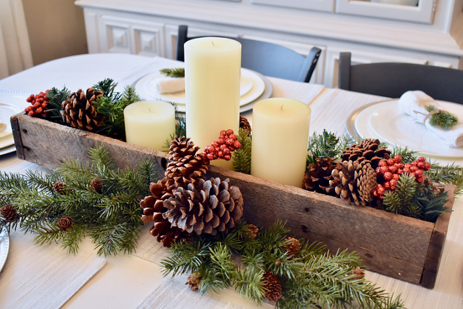 Natural Christmas Tablescape Natural Christmas Tablescape Ideas