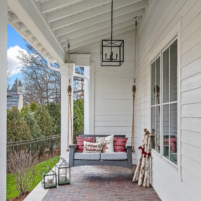 Porch Swing Christmas Decor Porch Swing Ideas Pillows Decor #Porch #swing #porchswing Home Bunch