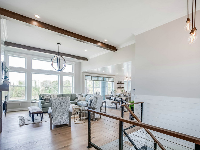 Sherwin Williams Repose Gray Neutral main floor paint color Sherwin Williams Repose Gray Sherwin Williams Repose Gray #SherwinWilliamsReposeGray #neutralpaintcolor #mainfloorpaintcolor