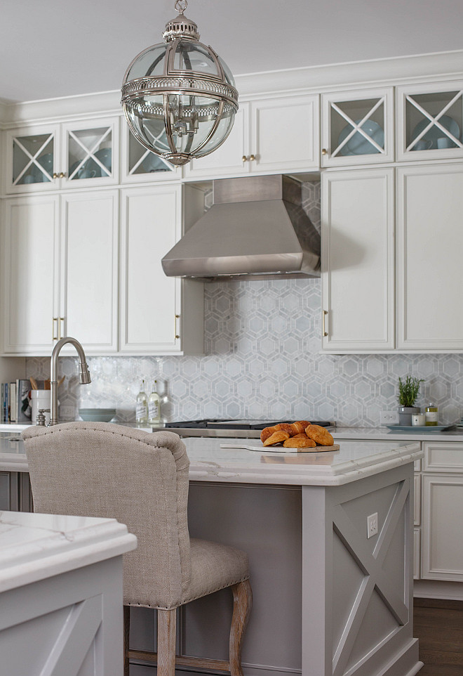 Swiss Coffee​ By Valspar with gray glaze Kitchen cabinets Glazed Kitchen Cabinet Swiss Coffee​ By Valspar with gray glaze