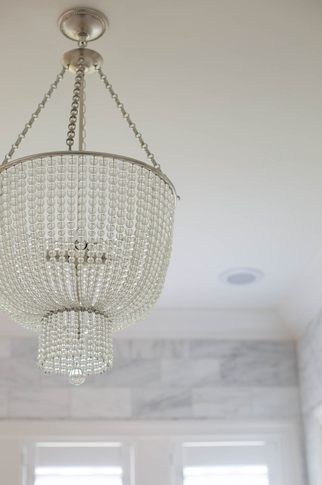 Visual Comfort AERIN Jacqueline Chandelier Clear Bead Chandelier