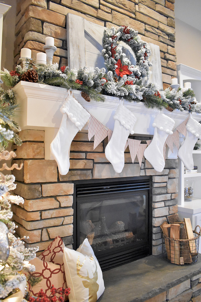 Wooden Mantel Décor DIY tutorial Wooden Mantel Décor DIY tutorial ideas #WoodenMantelDécor #DIY #tutorial Home Bunch's Beautiful Homes of Instagram