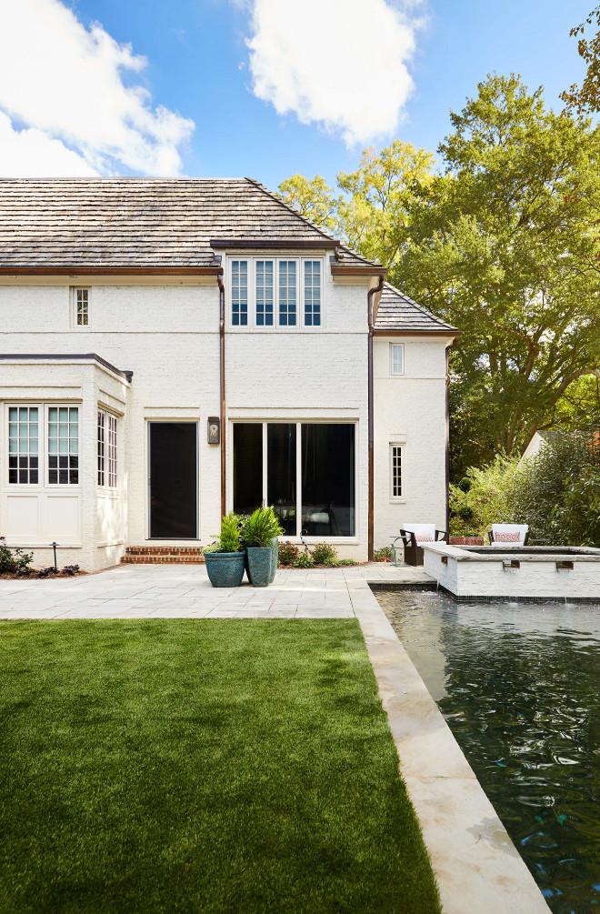 Belgian Style Home Backyard Pool