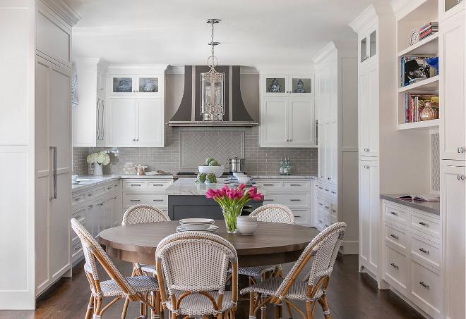 Classic White Kitchen With Grey Backsplash Home Bunch Interior Design Ideas