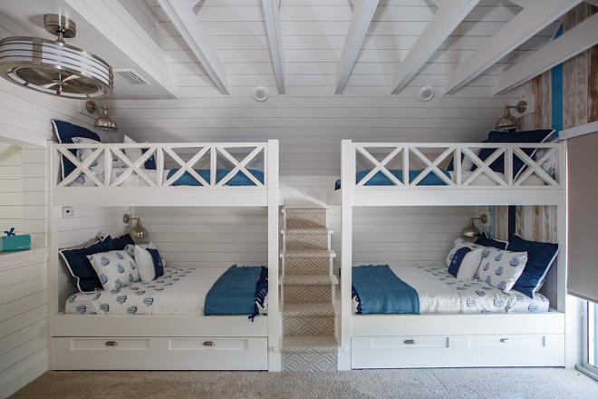 Four Bunks Bunk Room with Custom Staircase Bunk Room Four Bunks Bunk Room with Custom Staircase Four Bunks Bunk Room with Custom Staircase