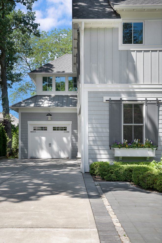 Exterior White Trim Color Sherwin Williams SW 6252 Ice Cube