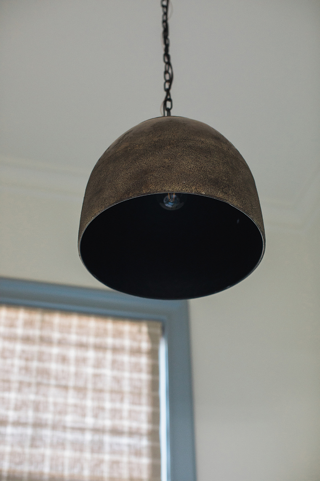 Industrial Farmhouse Lighting hammered copper one light pendant