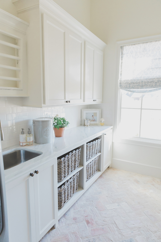 "Laundry Room Brick Flooring Countertop Polished ""Shadow"" Quartzite Laundry Room Brick Flooring Herringbone brick flooring"