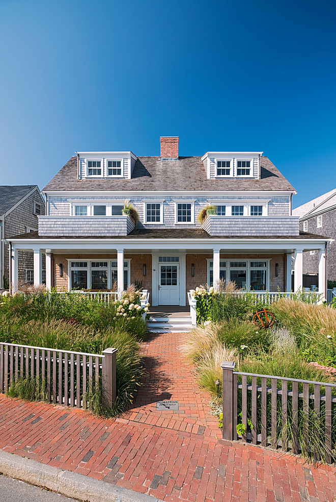 Nantucket Shingle Home Exterior Architecture Nantucket Shingle Home Exterior