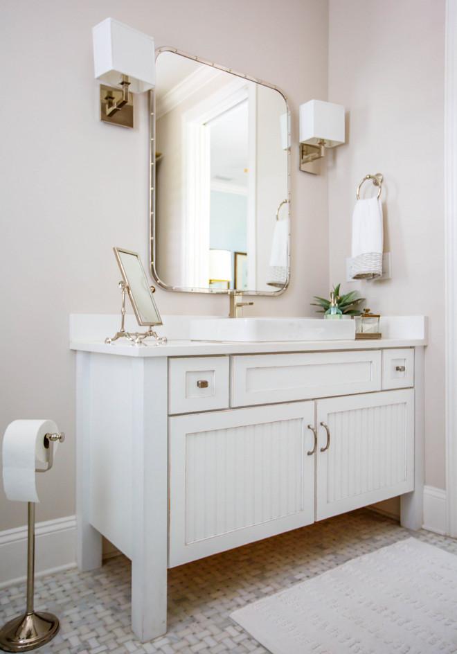 Neutral Bathroom Paint Color Valspar Swiss Coffee 7002-16