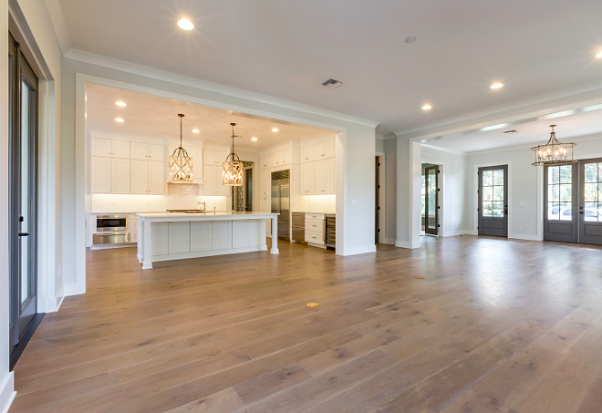 New Homes floor plan ideas Main floor ideas main floor layout plans Foyer leads to a wide-open dining room, family room and kitchen area