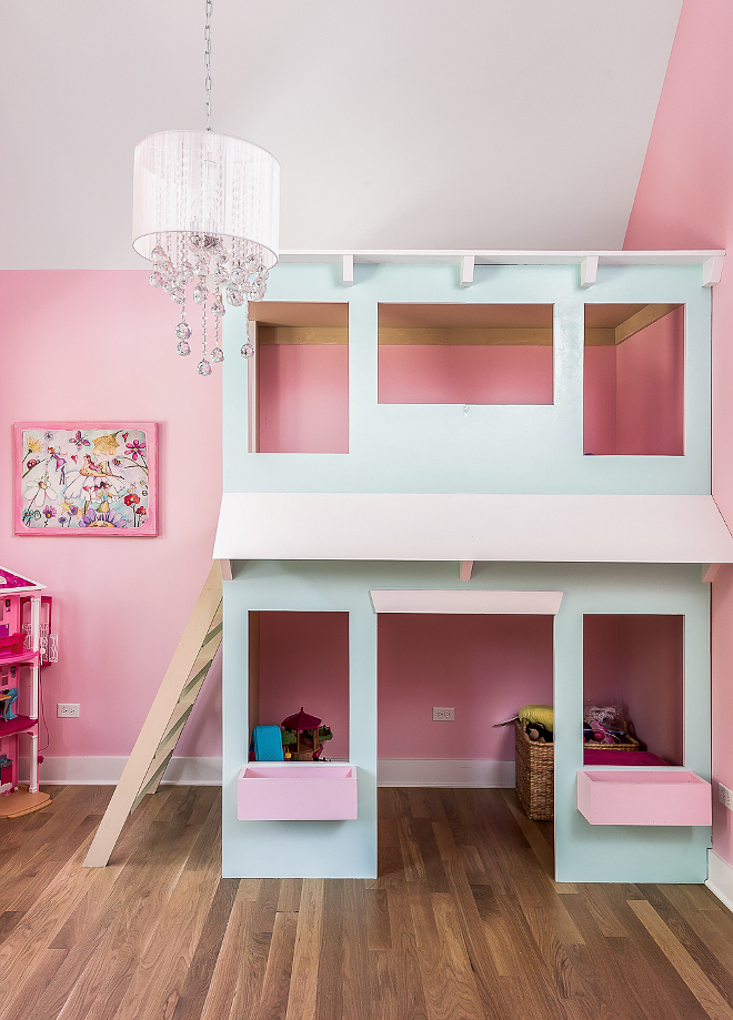 Pink Chandelier Floor Lamp