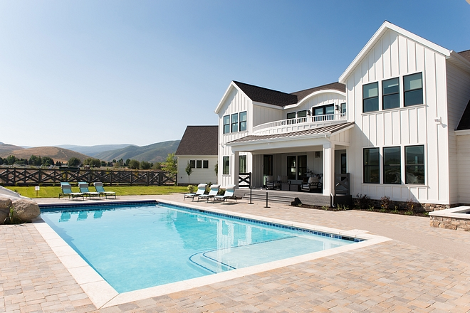 Modern farmhouse pool