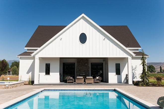 Board and batten Poolhouse Board and batten Poolhouse exterior Board and batten Poolhouse