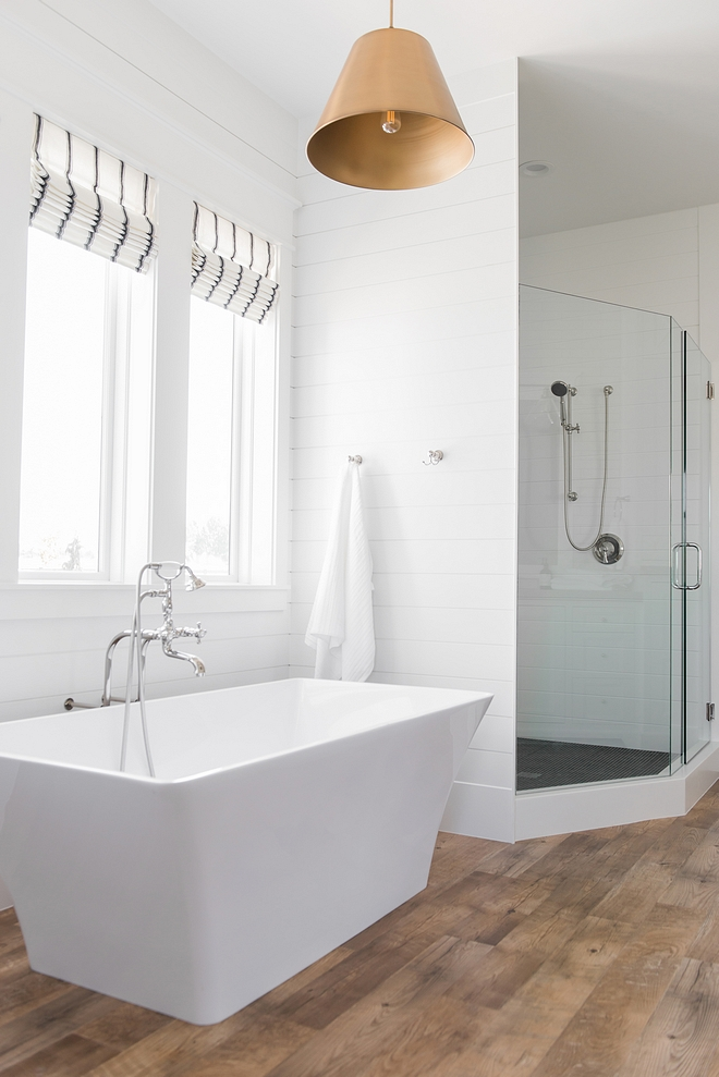 Vinyl Plank Bathroom Vinyl Plank flooring The bathroom flooring is LVP (Luxury Vinyl Plank) This product offer the look of wood without the worry of water damage and maintenance