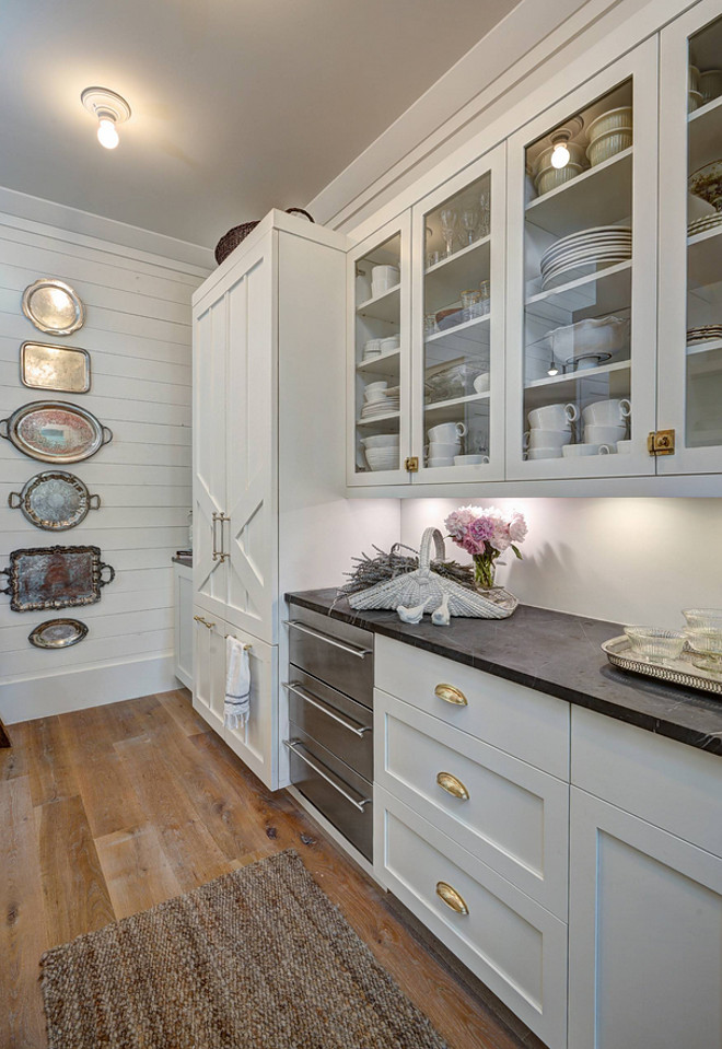 White Beach Style Kitchen With Shiplap Home Bunch