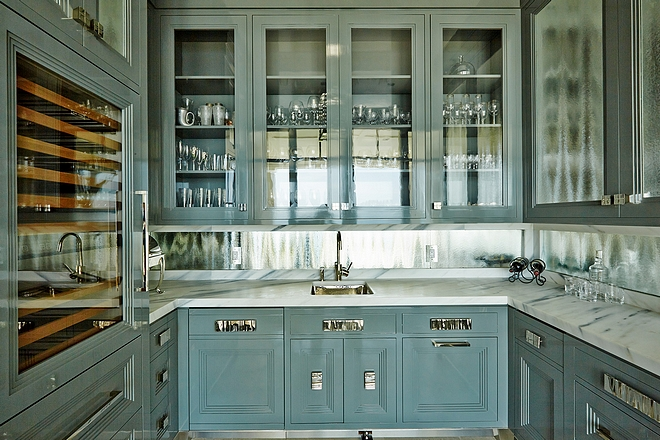 Butler's Pantry Blue grey Butler's Pantry Blue grey cabinet ideas Butler's Pantry