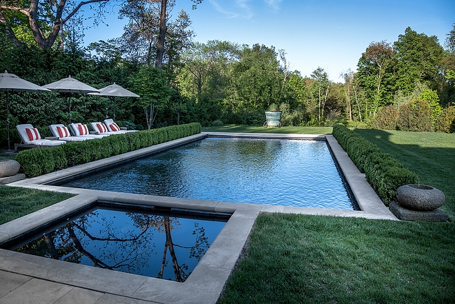 Concrete boarder Pool and Spa