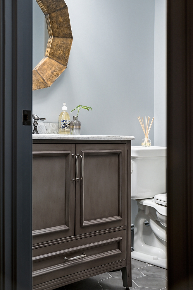 Bathroom vanity with marble top source on Home Bunch
