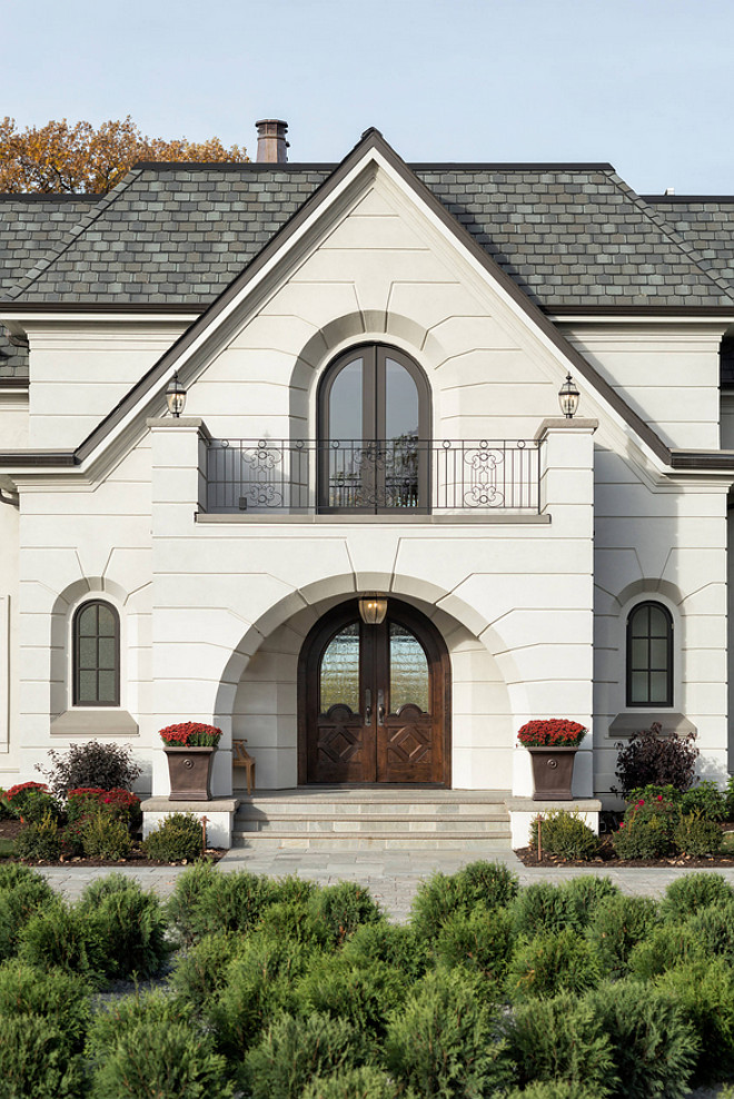 Arched front door French home with arched entry and arched front doors