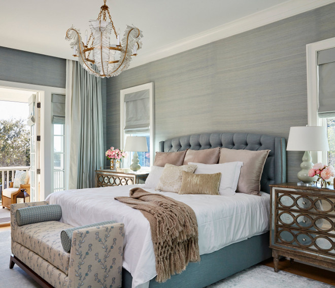 Bedroom Chandelier Chic bedroom chandelier ideas Visual Comfort & Co. Calais Chandelier, Gilded Iron