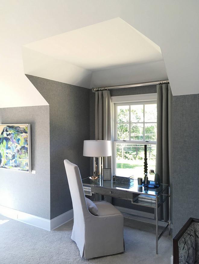 Phillip Jeffries 5433 Herringbone II-Grey Knotwork Wallpaper Herringbone wallpaper