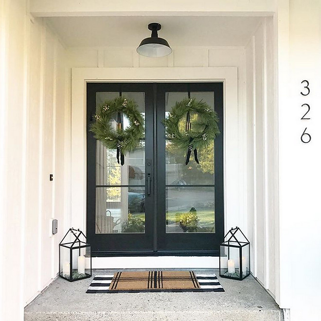 Black front doors Black steel and glass front door Modern Farmhouse Black front doors Black steel and glass front door