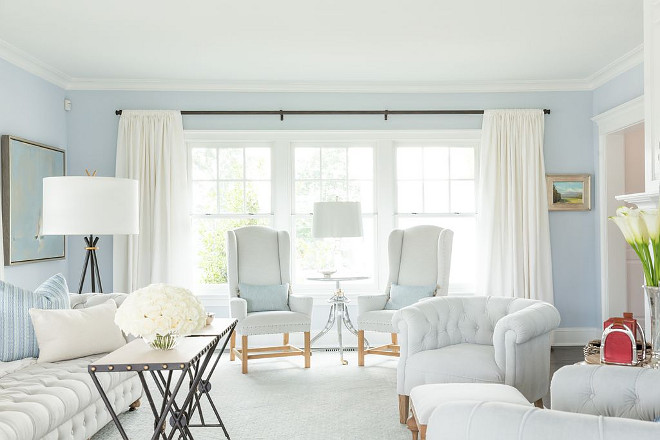 Benjamin Moore Beacon Grey 2128-60 light blue paint color