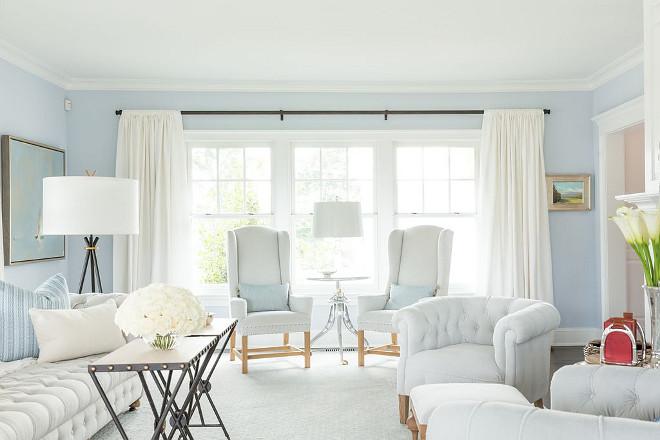 Benjamin Moore Beacon Grey 2128-60 light blue paint color