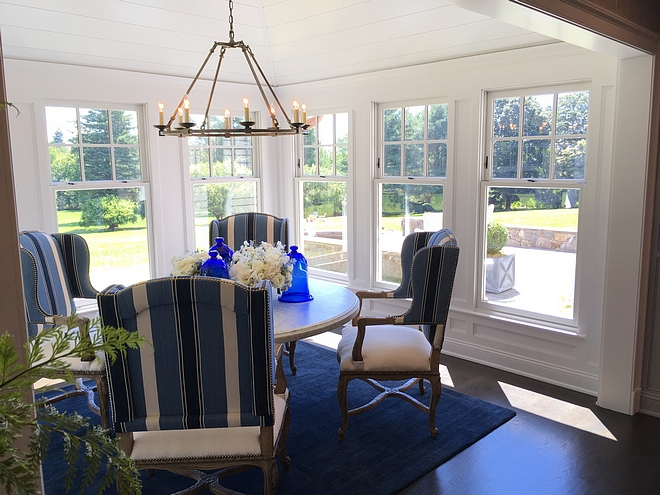 Blue and white Breakfast Room Coastal Blue and white Breakfast Room Classic coastal Blue and white Breakfast Room Blue and white Breakfast Room