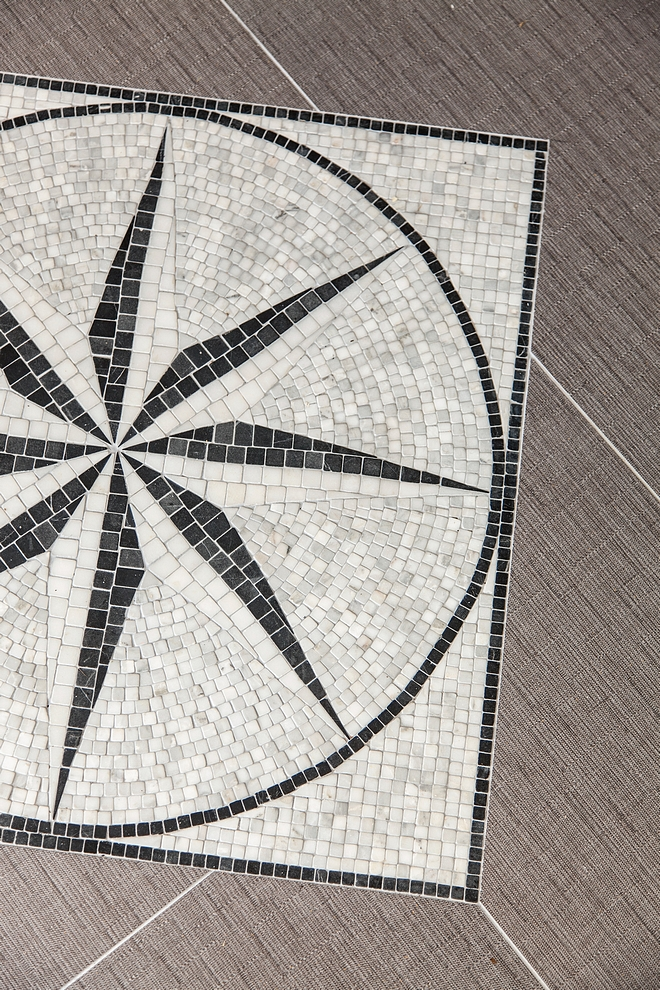 Coastal Floor Medallion Compass Mosaic floor tile Coastal Floor Medallion Compass Coastal Floor Medallion Compass
