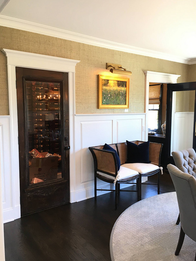 Dining Room with vintage glass doors to Wine Room and Butler's Pantry