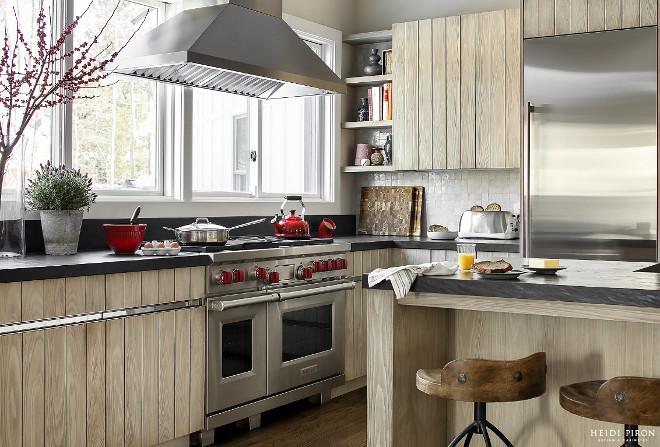 Kitchen Range by windows