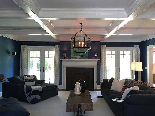 Coffered ceiling living room chandelier ideas Best Coffered ceiling living room chandeliers Coffered ceiling living room chandelier