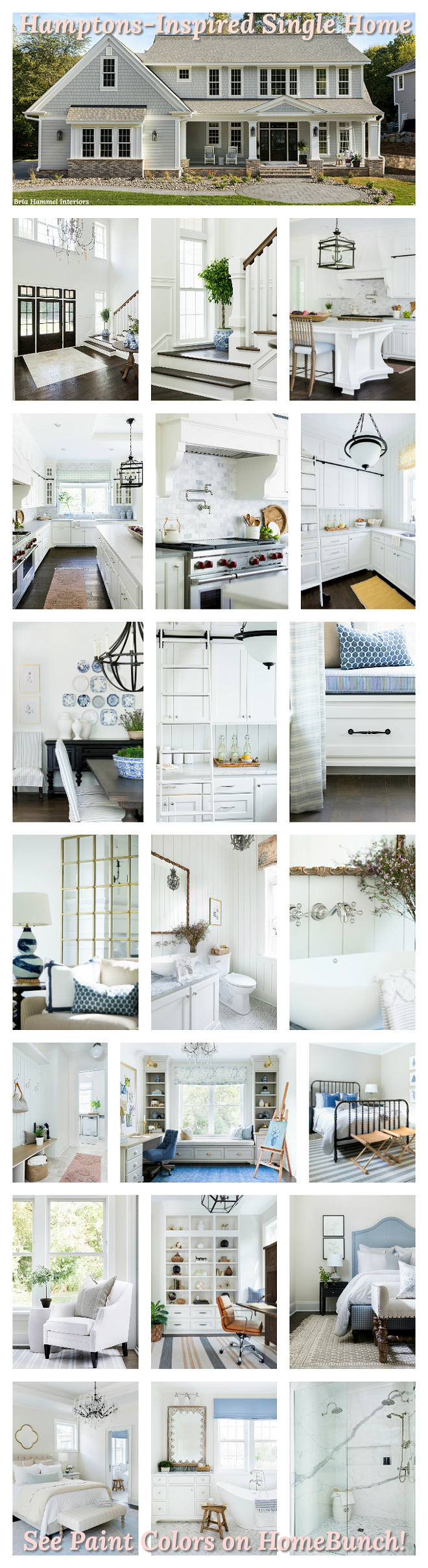 Hamptons-Inspired Single Home Hamptons-Inspired Single Home Photos and Paint Colors
