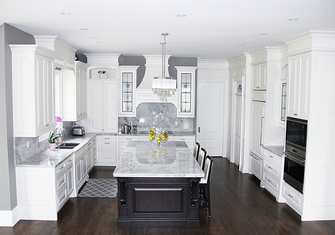 White kitchen with grey walls Classic White kitchen with grey walls White kitchen with grey wall ideas